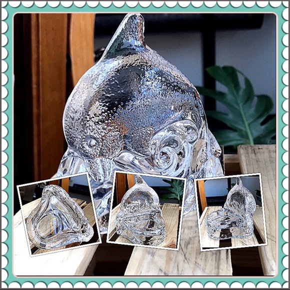 🐬 PartyLite Glass dolphin tea light holder